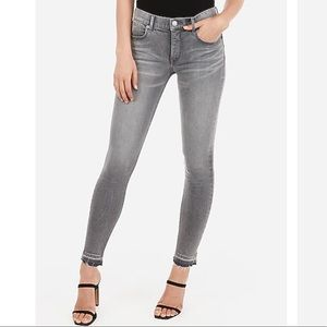 Express Mid Rise Gray Ankle Legging Jean